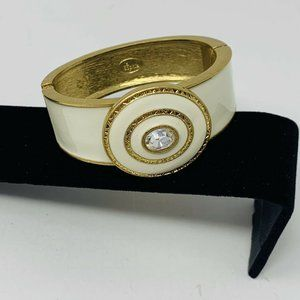 Lia Sophia ALABASTER Bangle Bracelet White Cream